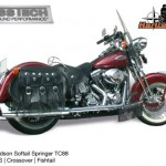 Kess tech voor harley davidson softail crossover met fishtails