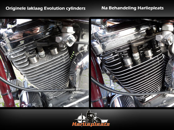 verweerde laklaag Harley davidson evolution cylinders