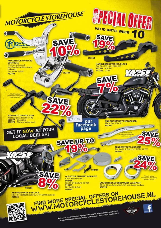 Motorcycle storehouse aanbieding week 10 -2014