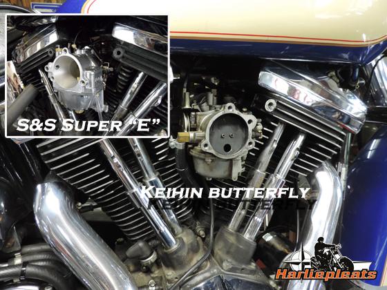 S&S Super E & G carburateurs te koop bij Harliepleats