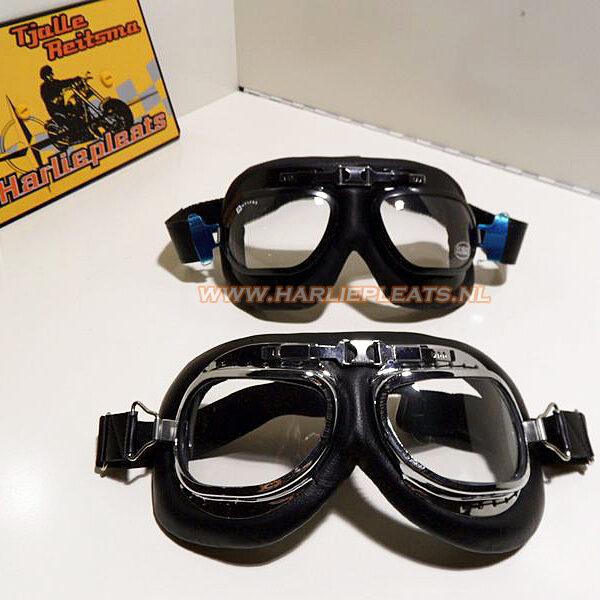 klassieke motorbrillen vliegenier stijl
