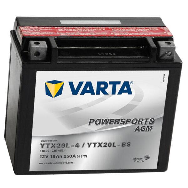 Varta YTX20L-BS Powersports AGM