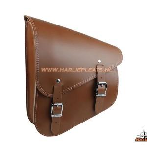 515832 leather swingarm bag brown softail