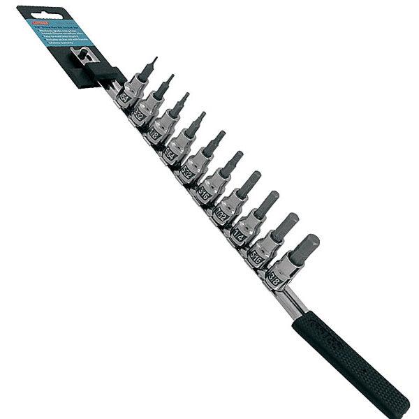 Inbus set 3/8 ratelaansluiting inch maten 550140