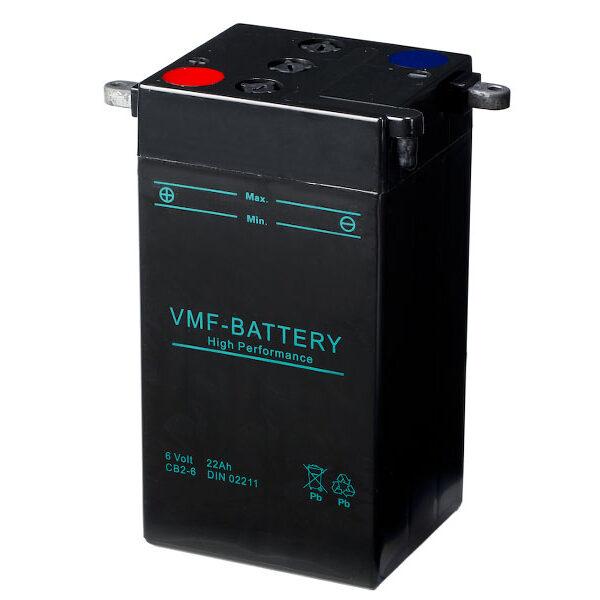 VMF CB2-6 accu 6 volt voor Harley Klassieker