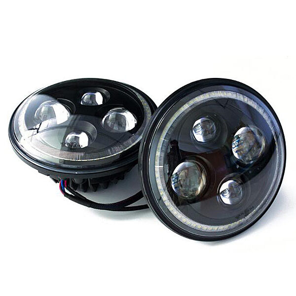 7 inch led koplampunit black face
