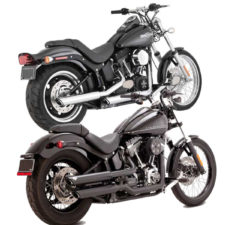Vance & hines twin slash 3 inch slip on Softail twin cam