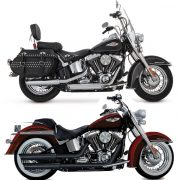 Vance & hines twin slash slip on Softail EC