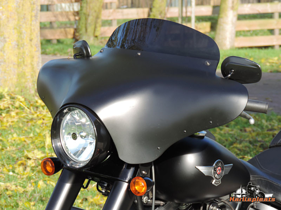 Batwing fairing memphis shades softail fatboy lo denim black