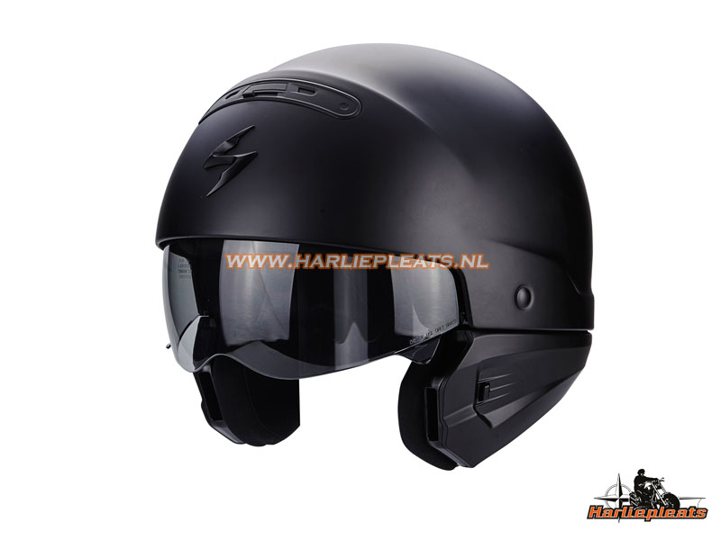 Scorpion Exo Combat helm matzwart