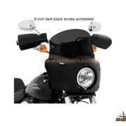 road warrior fairing 9 inch dark black smoke