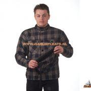 Grand canyon woodchopper hoodie grijs zwart geblokt