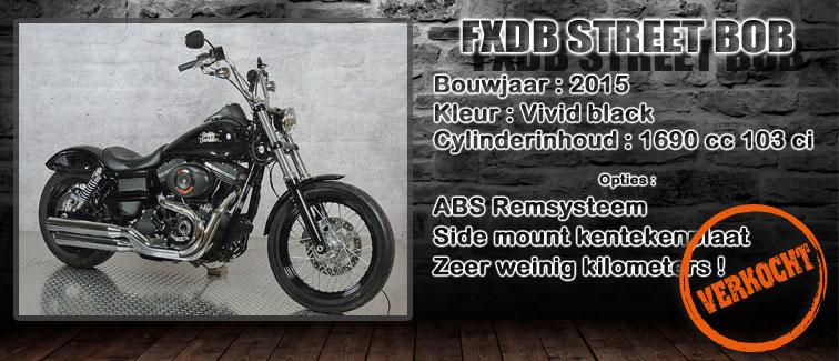FXDB Streetbob vivid black 2015 te koop bij Harliepleats