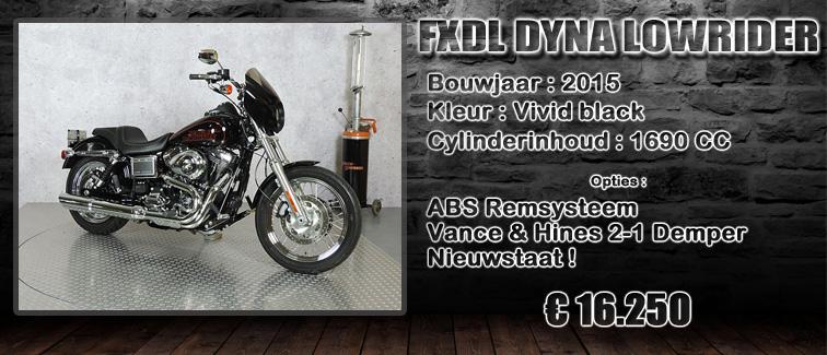 FXDL Dyna lowrider uit 2015 te koop bij Harliepleats