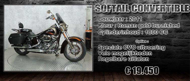 FLSTSE2 Softail CVO convertible te koop bij Harliepleats