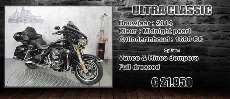 FLHTCU Ultra classic electra glide 2014 midnight pearl te koop bij Harliepleats