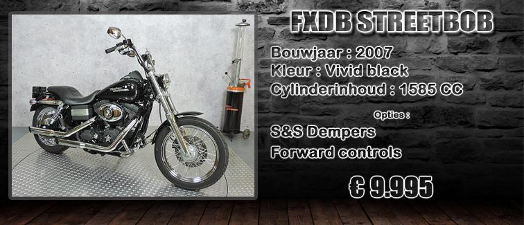 FXDB Dyna streetbob uit 2007 te koop bij Harliepleats