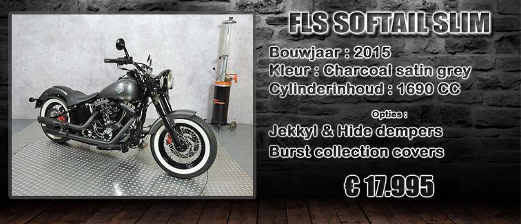 FLS Softail slim uit 2015 te koop bij Harliepleats