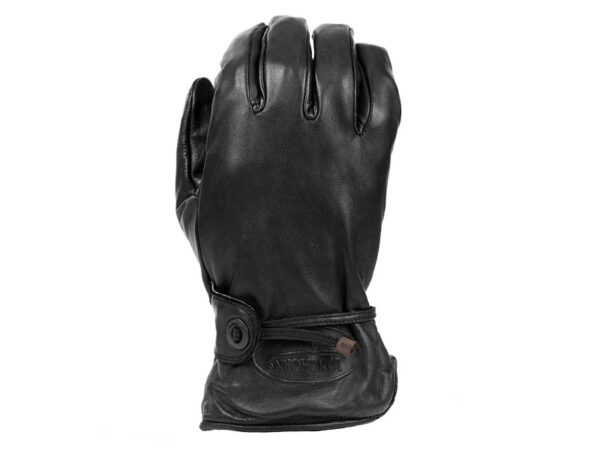 Longhorn motorhandschoen zwart
