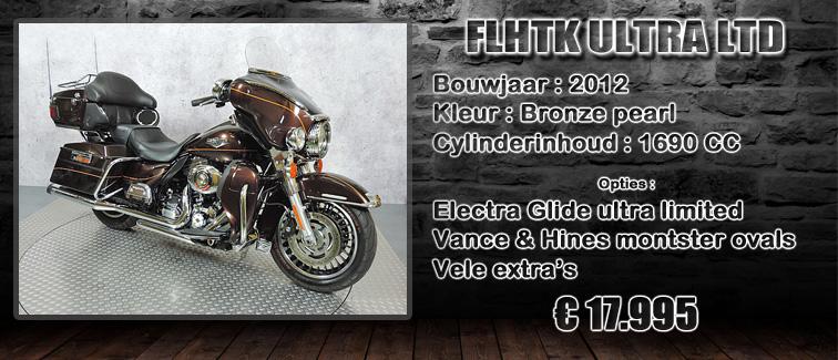 FLHTK electra glide ultra limited uit 2012 te koop bij Harliepleats