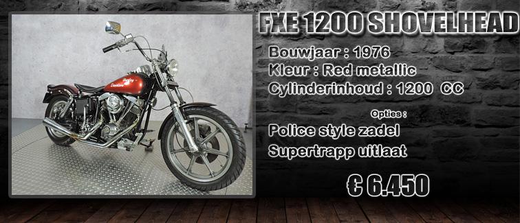 FXE 1200 Shovelhead uit 1976 te koop bij Harliepleats