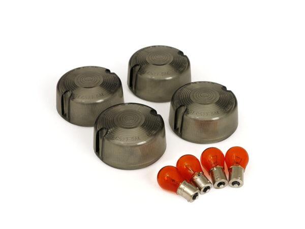 Domed turn signal lens kits smoke 951450