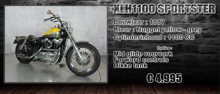XL1100 sportster uit 1987 te koop bij Harliepleats