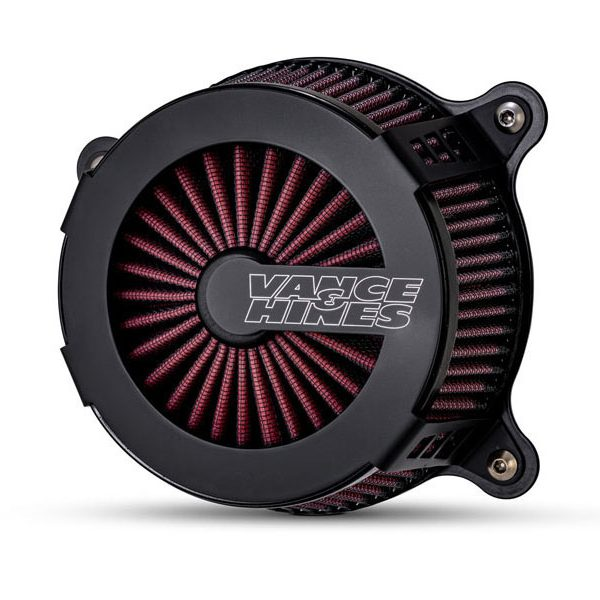Vance & Hines VO2 cage fighter luchtfilter Dyna zwart